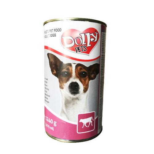 Dolly Dog kutya konzerv, Borjú – 1240g